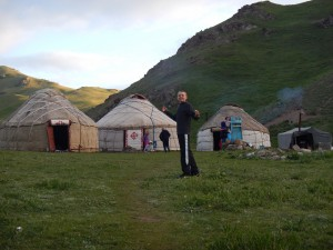 High alpine yurt camp