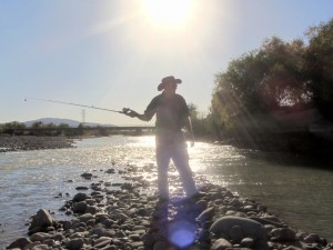 Fishing in Naryn region